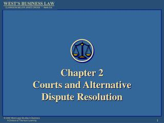 Part 2 Courts and Alternative Dispute Resolution