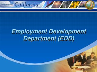 Occupation Development Department EDD
