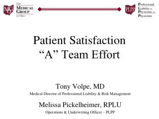 Understanding Satisfaction A Team Effort