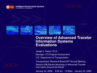 Review of Advanced Traveler Information Systems Evaluations