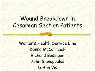 Twisted Breakdown in Cesarean Section Patients