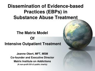 Scattering of Evidence-based Practices EBPs in Substance Abuse Treatment