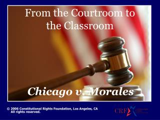 From the Courtroom to the Classroom