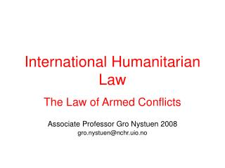Global Humanitarian Law