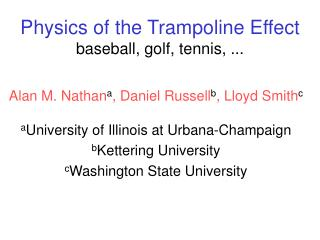 Material science of the Trampoline Effect baseball, golf, tennis, ...