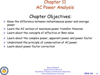 Section 11 AC Power Analysis