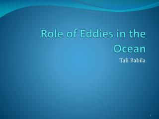 Part of Eddies in the Ocean