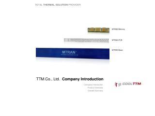 TTM Co , Ltd  Organization Introduction