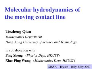 Atomic hydrodynamics of the moving contact line