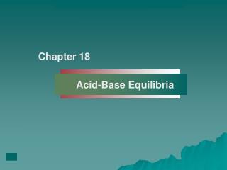 Corrosive Base Equilibria