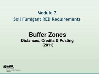 Cushion Zones Distances, Credits Posting 2011