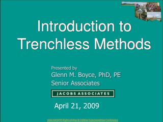 Prologue to Trenchless Methods