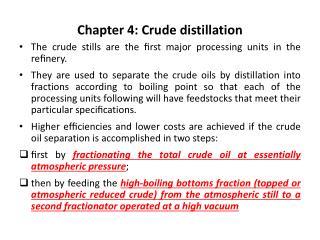 Part 4: Crude refining