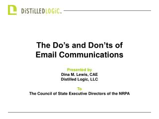The Do s and Don ts of Email Communications