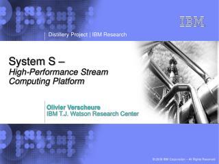 Framework S High-Performance Stream Computing Platform
