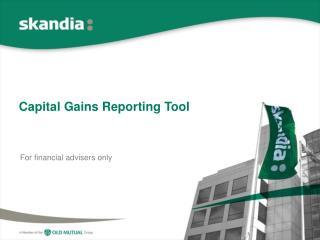 Capital Gains Reporting Tool