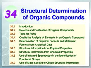 Auxiliary Determination of Organic Compounds