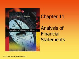 Section 11 Analysis of Financial Statements