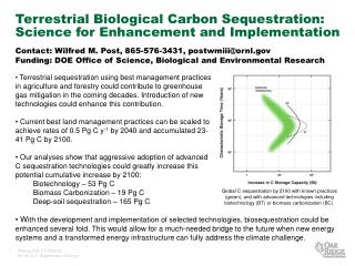 Physical Biological Carbon Sequestration: Science for Enhancement and Implementation
