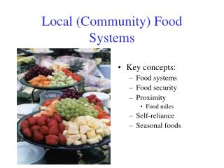 Neighborhood Community Food Systems