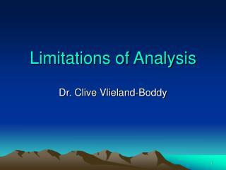 Constraints of Analysis