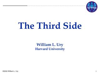The Third Side William L. Ury Harvard University