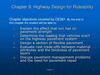 Part 9. Roadway Design for Rideability