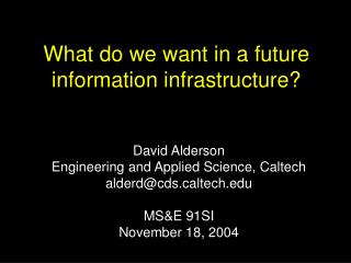 What do we need in a future data framework