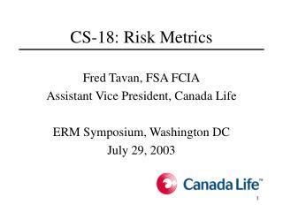 CS-18: Risk Metrics