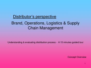 Brand, Operations, Logistics Supply Chain Management