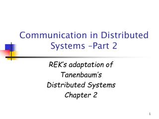 Correspondence in Distributed Systems Part 2