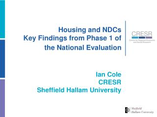 Lodging and NDCs Key Findings from Phase 1of the National Evaluation
