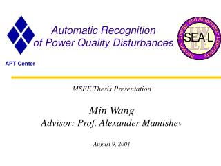 Programmed Recognition of Power Quality Disturbances