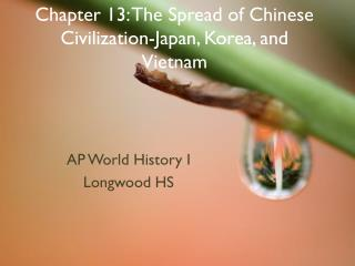 Part 13: The Spread of Chinese Civilization-Japan, Korea, and Vietnam