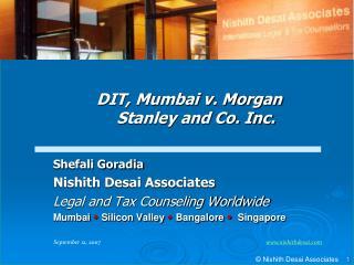 Shefali Goradia Nishith Desai Associates Legal and Tax Counseling Worldwide Mumbai Silicon Valley Bangalore Singapor