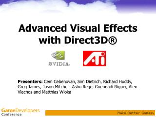 Progressed Visual Effects with Direct3D