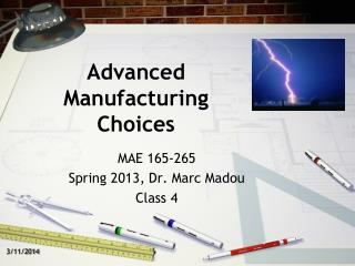 Propelled Manufacturing Choices