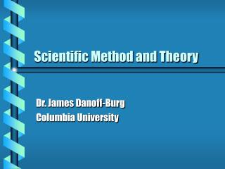 Experimental Method and Theory