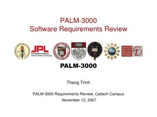 PALM-3000 Software Requirements Review