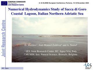 Numerical Hydrodynamics Study of Sacca di Goro Coastal Lagoon, Italian Northern Adriatic Sea