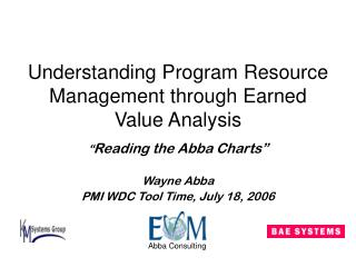 Comprehension Program Resource Management through Earned Value Analysis
