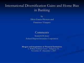 Worldwide Diversification Gains and Home Bias in Banking
