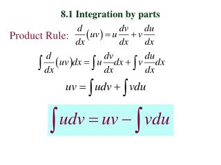 8.1 Integration by parts