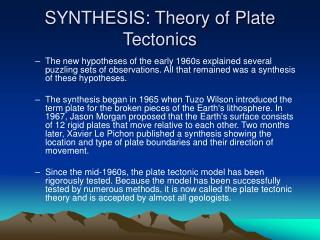 Amalgamation: Theory of Plate Tectonics