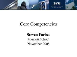 Center Competencies