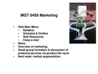 MGT 6450 Marketing