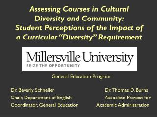 Evaluating Courses in Cultural Diversity and Community: Student Perceptions of the Impact of a Curricular Diversity Req
