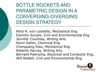 Container ROCKETS AND PARAMETRIC DESIGN IN A CONVERGING-DIVERGING DESIGN STRATEGY