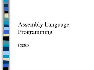 Low level computing construct Programming CS208