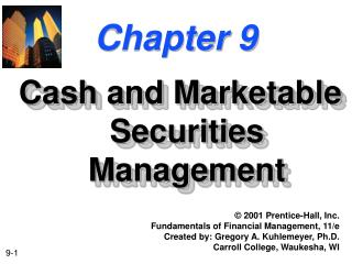 Money and Marketable Securities Management